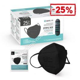 FFP2 nr zaštitna maska, CRNA ( 500 komada )